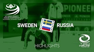 HIGHLIGHTS: Sweden v Russia - round robin - LGT World Women's Curling Championship 2019