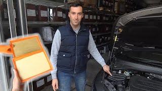 Sostituzione filtro aria motore Fiat Tipo