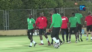 22 Lions à l'entraînement à la veille de Sénégal-Tanzanie, le gardien Alfred Gomis  forfait