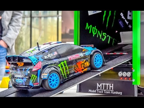 Fantastic KEN BLOCK RC truck with the Hoonigan Ford Fiesta on board!