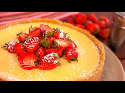 How to make an easy classic Baked Lemon Cheesecake in a blender - UCrwSKj1SUAbS-HkfhZRhbSg