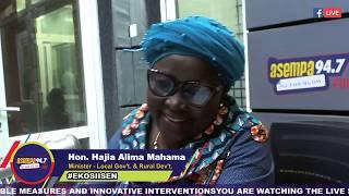 #Ekosiisen With Hon.O.B Amoah And  Hon. Hajia Alima Mahama