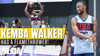 Kemba Walker has a FLAMETHROWER! 🔥 Donovan Mitchell takes OFF at USA Practice 👀