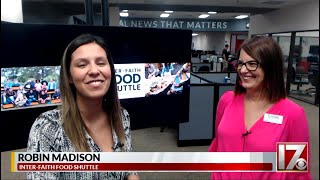 Inter-Faith Food Shuttle's Robin Madison visits the CBS 17 Digital Desk