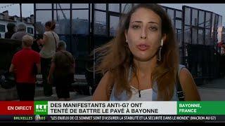 Manifestation anti-G7 : tensions avec la police à Bayonne