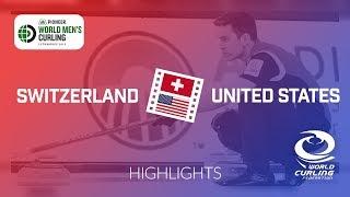 HIGHLIGHTS: Switzerland v United States - Pioneer Hi-Bred World Men's Curling Championship 2019