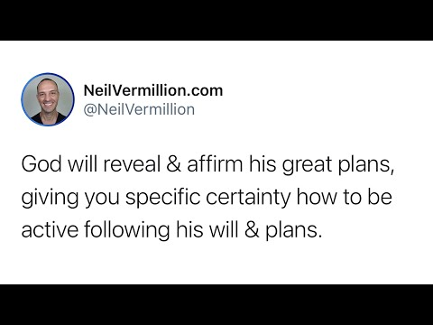 I Will Reveal And Affirm My Great Plans - Daily Prophetic Word