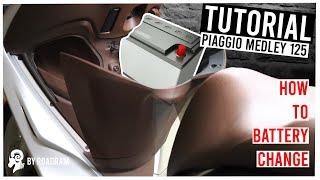 Smontare la batteria Piaggio MEDLEY 125