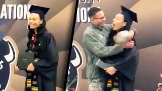 Airman Surprises Sister at College Graduation