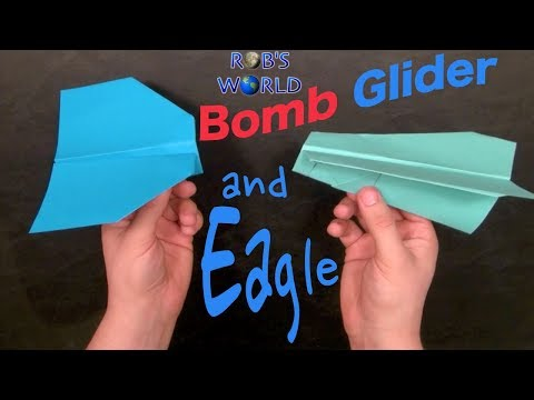 How to make a BEST Paper airplane glider - EASY paper