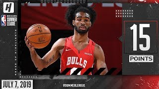 Coby White Full Highlights Bulls vs Cavaliers (2019.07.07) Summer League - 15 Points, 6 Reb!