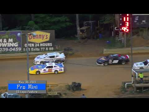 Pro Mini Feature @ Wythe Raceway May 30, 2021 - dirt track racing video image