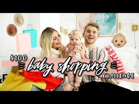 $100 BABY SHOPPING CHALLENGE! Husband vs Wife Again! | Aspyn Ovard - UCR1EMxu9anmg7DhJBxNUbsA