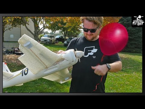 Poppin' Balloons with 100mph RC Airplane | FLITE TEST - UCXqlds5f7B2OOs9vQuevl4A