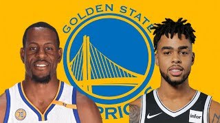GOLDEN STATE WARRIORS SIGN D'ANGELO RUSSEL 4 YEARS 117 MILLION TRADE ANDRE IGUODALA