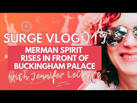 Merman Spirit Rises in Front of Buckingham Palace
