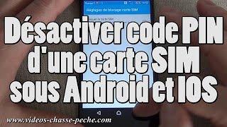Désactiver code PIN carte SIM (piège photographique)