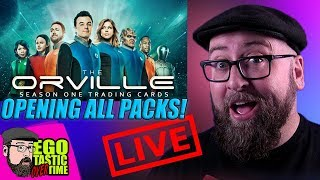 The Orville Season One Trading Cards - Opening All Remaining Packs   TALKING THE ORVILLE