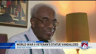 Winter Park police looking for vandal who destroyed statue of Tuskegee airman