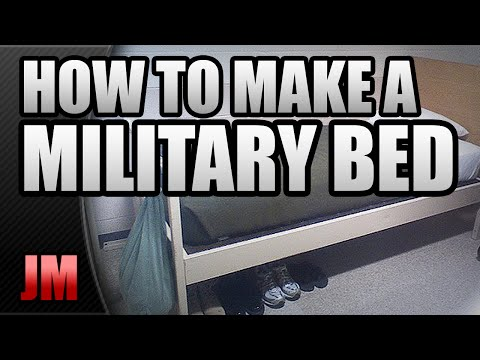 HOW TO MAKE A MILITARY STYLE BED (BASIC TRAINING) - UCvtAjzYiOTHh-iRclbqdzHw