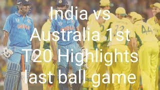 India vs Australia 1st T20 Highlights: Australia win by 3 wickets on last ball