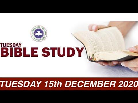 RCCG DECEMBER 15th 2020 BIBLE STUDY