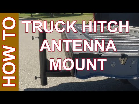 Ham Radio Trailer Hitch Mount - Flag Pole Mount with Extender