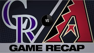 Melville's magical day lifts Rockies to win |  Rockies-D-backs Highlights 8/21/19