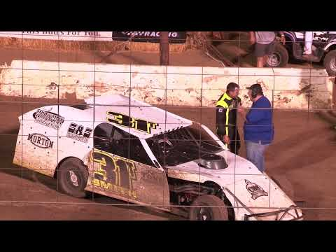 Perris Auto Speedway IMCA Modified Main Event  7-24-21 - dirt track racing video image