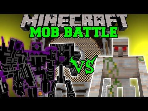 EPIC ROBOTS VS MUTANT IRON GOLEM & HERCULES BEETLE - Minecraft Mob Battles - Mods - UCpGdL9Sn3Q5YWUH2DVUW1Ug