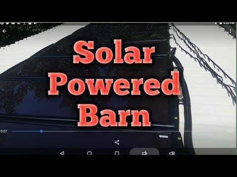 Solar Powered Barn - Harbor Freight Thunderbolt Magnum Solar Kit