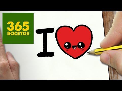 Youtube Como Dibujar Corazon Kawaii Paso A Paso Dibujos Kawaii