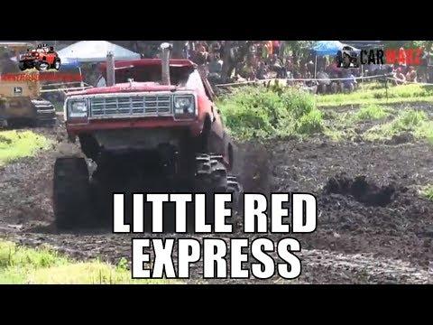 LITTLE RED EXPRESS Dodge Mega Truck At Perkins Summer Sling Mud Bog 2018