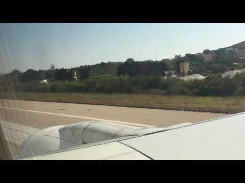 Video op YouTube: Airport Skiathos in Greece - take off