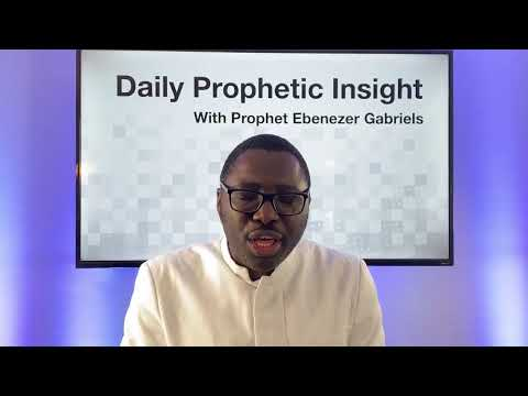 Prophetic Insight - January 28th, 2021