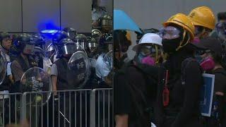 Hong Kong : les manifestants et la police ont pris position dans le district de Mongkok | AFP Images