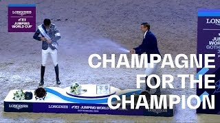 Champagne for the Champion! Steve Guerdat celebrates in Gothenburg | Longines FEI Jumping World Cup™