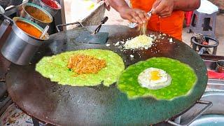 Kashmiri Omelet   Roadside Famous Egg Dish   A - 1 Omelet Center   Egg Street Food