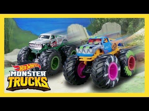 Monster Trucks vs. Colossal Boulders! The Ultimate Race Interference! | Monster Trucks | Hot Wheels