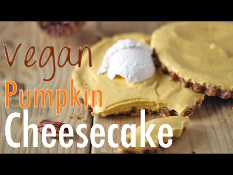 Vegan Pumpkin Cheesecake Recipe | No Bake