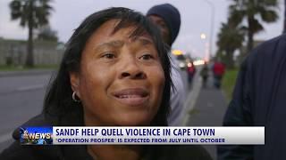 SANDF HELP QUELL VIOLENCE IN CAPE TOWN