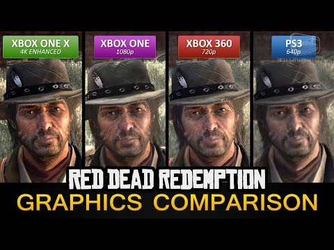 Red Dead Redemption Graphics Comparison - Xbox One X 4K Enhanced / Xbox One / PS3 / Xbox 360