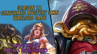 CONFIRMED SEASON 11 MYSTERY SKIN WARLORD BANE AND NEW HERO WITH SKILLS/SKINS REWORKED