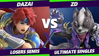 Smash Ultimate Tournament - BG   Dazai (Roy) Vs. Demise   ZD (Fox) S@X 316 SSBU Losers Semis