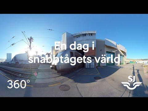 En dag i snabbtågets värld - 360 film från Hagalunds depå