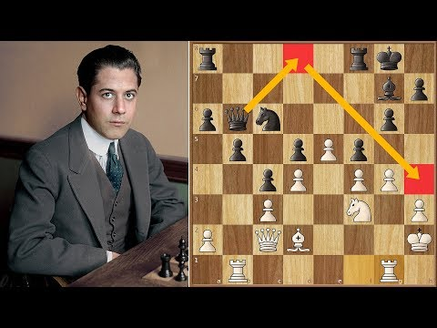 The Black Death | Capablanca vs Blackburne | St. Petersburg (1914)