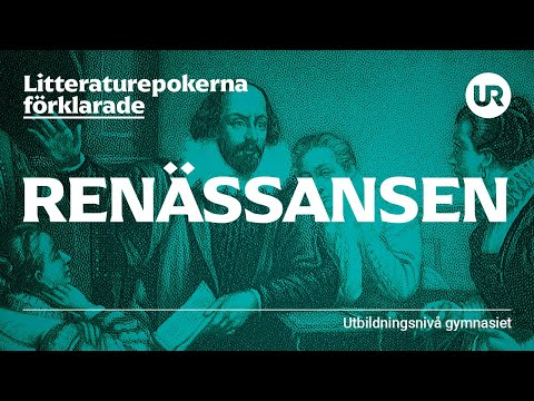 Litteraturepoken renässansen förklarad | SVENSKA | Gymnasienivå