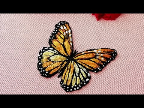 3D Butterfly : Long & short stitches | Easy stitches