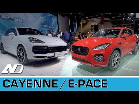 Porsche Cayenne 2019 y Jaguar E-Pace - Frankfurt Auto Show 2017