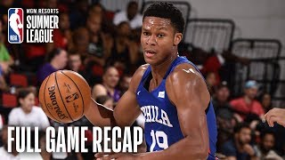 76ers vs RAPTORS | PJ Dozier Propels Philly to the Win | MGM Resorts NBA Summer League